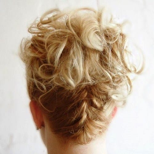 Messy Updo with a Down Braid