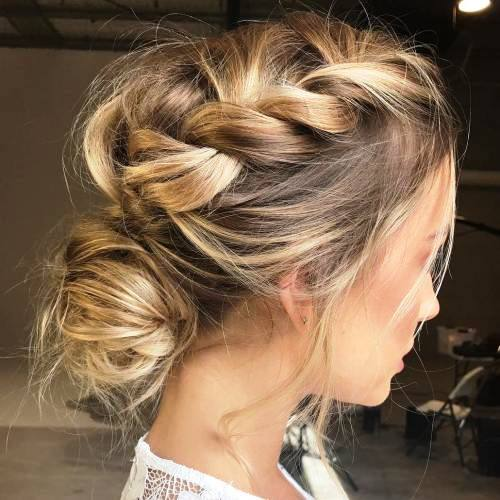Simple Bun with Side Tresses