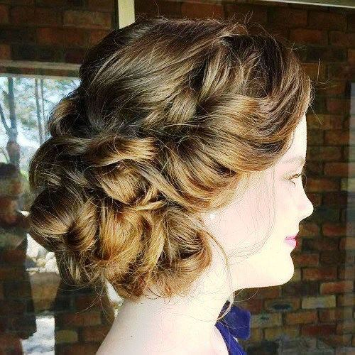 Twisted Loose Updo - Prom Hairstyles for Short Hair