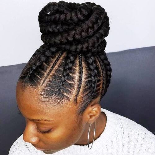 Twisted Rows Updo