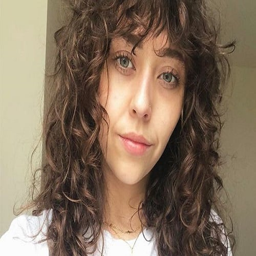 Long Curly Hair with Bangs
