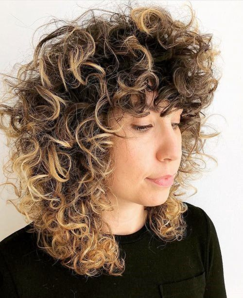 Curly Hair With Bangs Styles