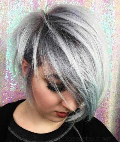 Silver Black Tampered Pixie Hairstyles for women over 60