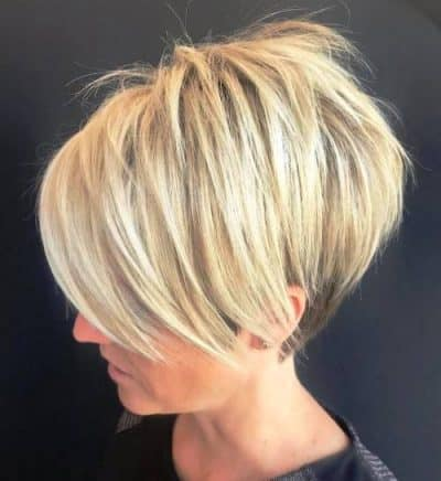 Tapered Blonde Pixie Hairstyles for women over 60