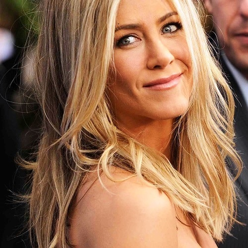 Jennifer Aniston's Signature Blonde Layers