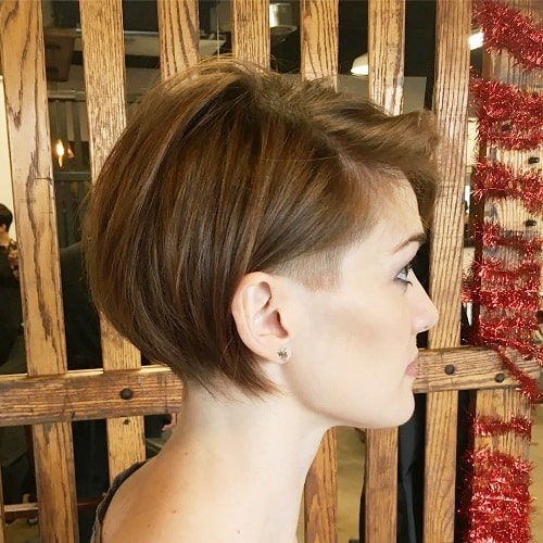 Classy Temple Haircut is One of The Short Haircuts For Fine Hair