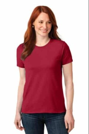 Round Neck T-Shirt with Free-Flowing Locks for the Casual Feel